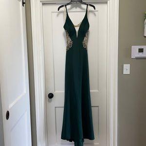 Faviana Long-Fitted Neoprene Dress